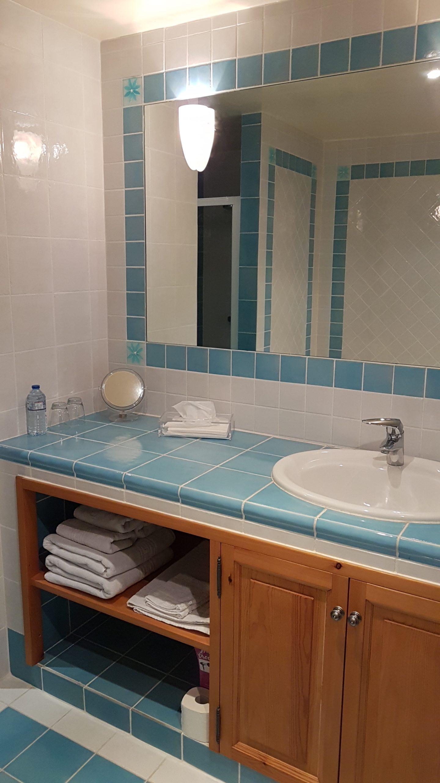 Salle de bain suite bleue -Rieu du Moulin